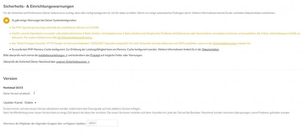 php-speichergrenze liegt unterhalb des empfohlenen wertes von 512mb